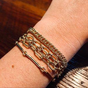 Brooks Brothers Multi-Layer Gold Bracelet